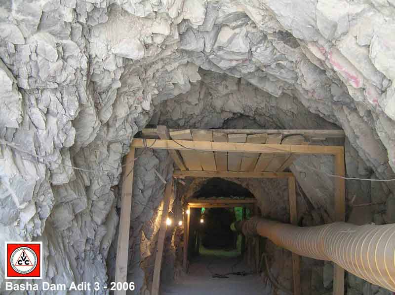 Tunneling and mining in Pakistan Basha Dam Adit 3