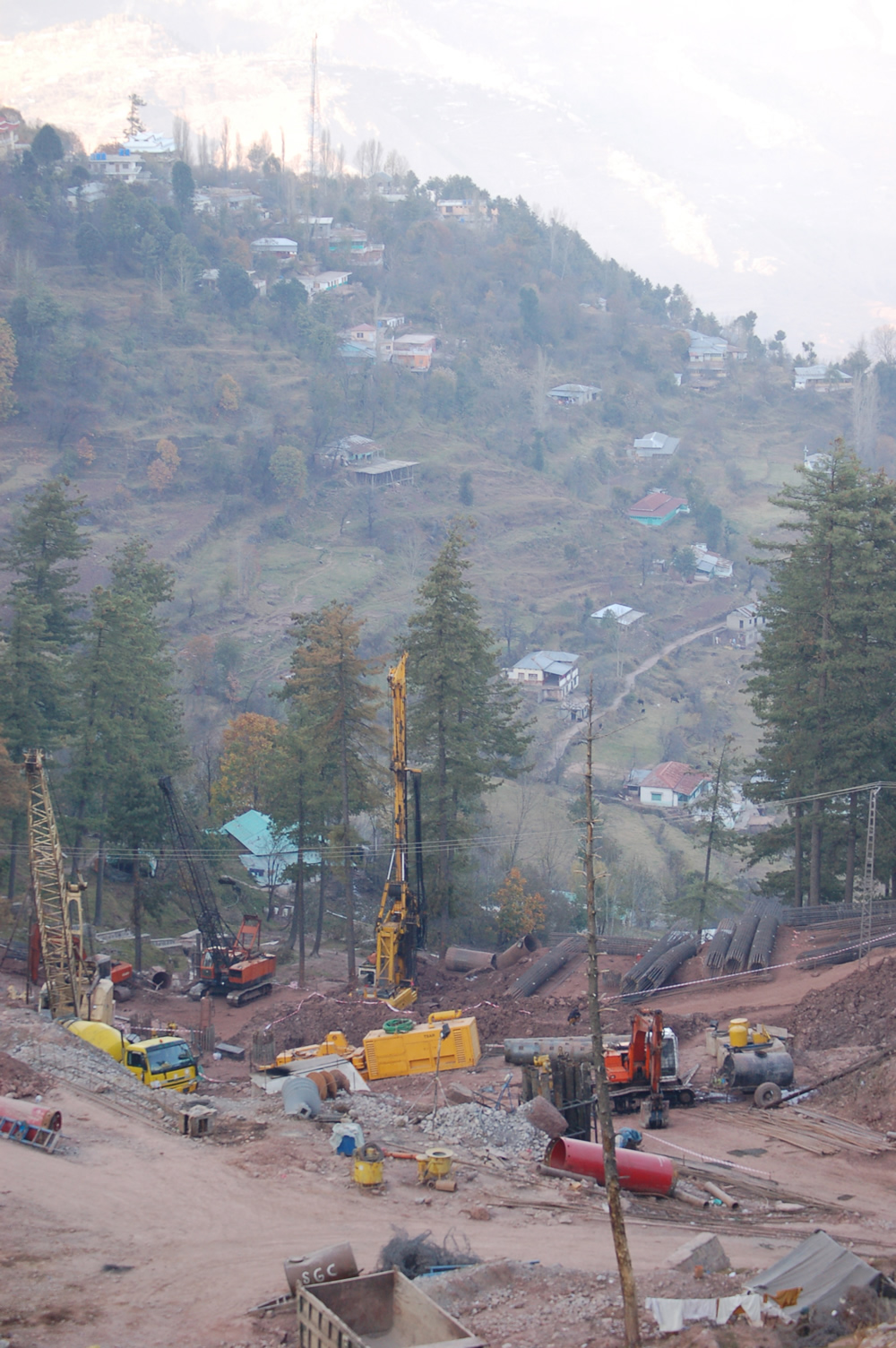Piling using Hydraulic Rotary Machines for Slope Protection Works at Jhika Gali, Murree 8