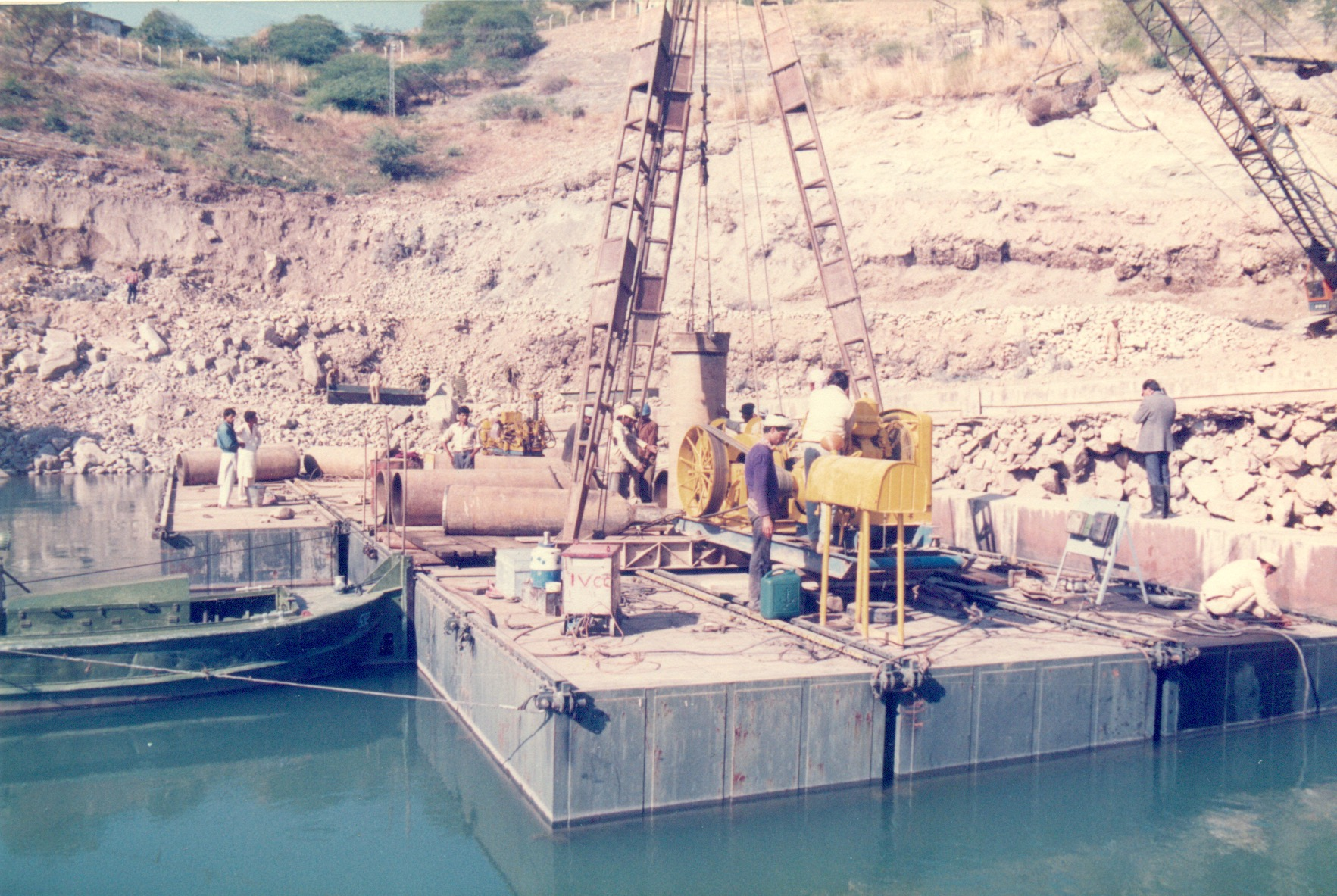 Construction of Double Sheet Pile Wall at Mangla Dam 5