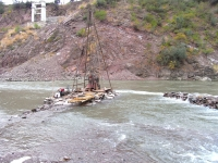Off-shore Core Drilling for Investigation on River Jehlum in Pakistan